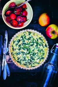 recept the green kitchen Spinazie-fetaquiche met haverbodem
